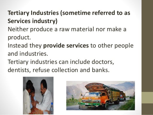 example of a secondary sector economic sector