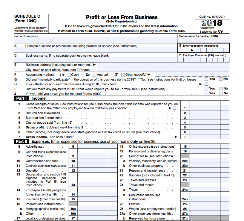 example 1040 form filled out