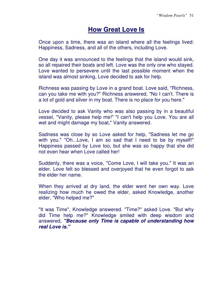 example of short story about friendship and love