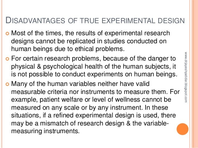 example of a true experimental research study