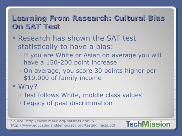 what is an example of cultural bias
