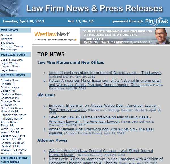 example email from law firm