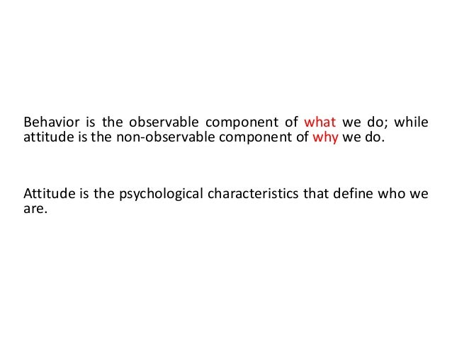 cognitive component of attitude example