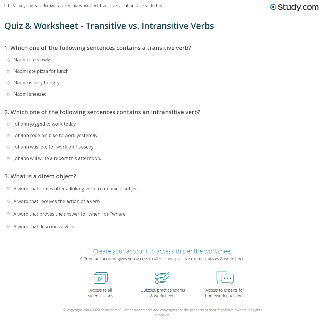 verb transitive and intransitive example
