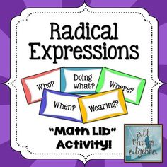 what are like radical terms example
