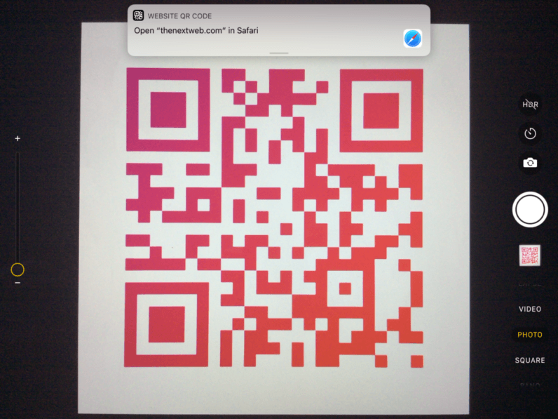 example of qr scanner on phoe