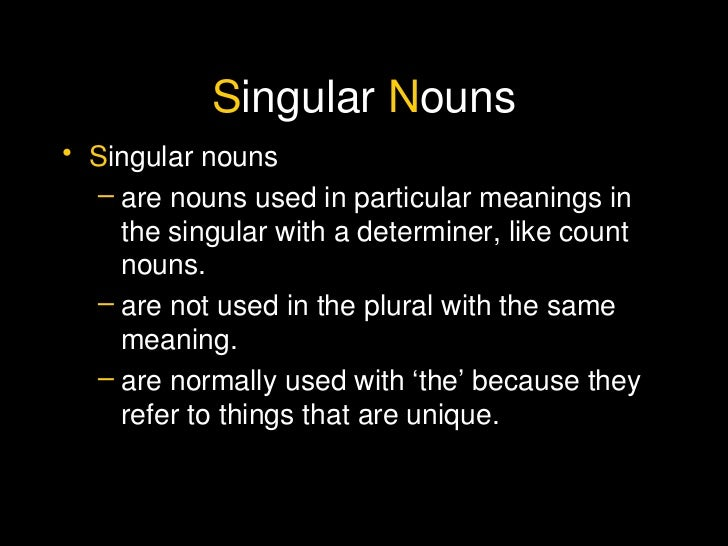 example of plural nouns but singular in meaning