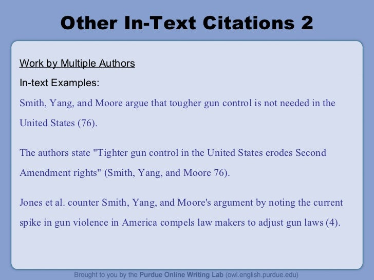 what is an in text citation example
