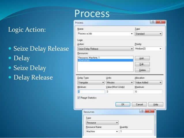 example with seize delay and seize delay release