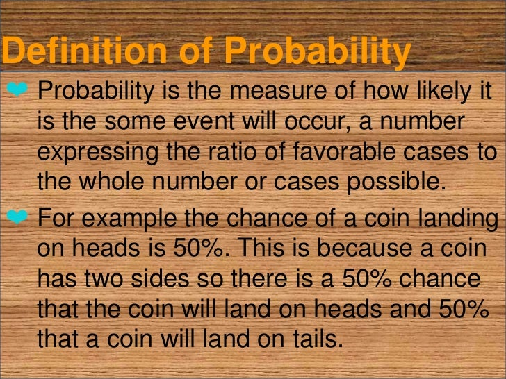 experimental probability definition and example