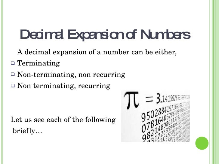 what is a terminating decimal example